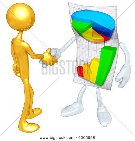 Gold Guy Business Report Handshake