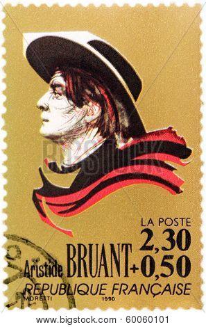 Aristide Bruant Stamp