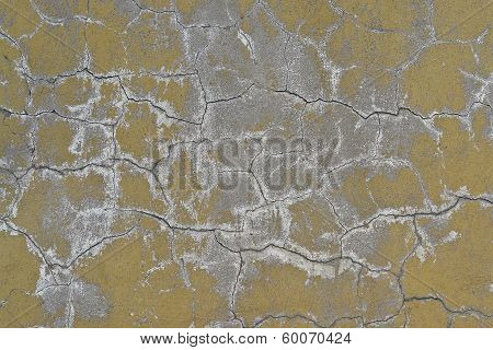 Old Wall In Cracked Plaster.