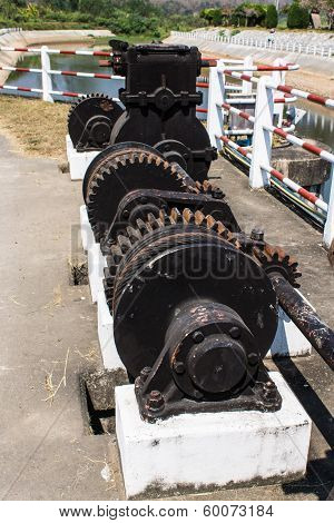 Winding Mechanism Of Irrigation Ditch Gate