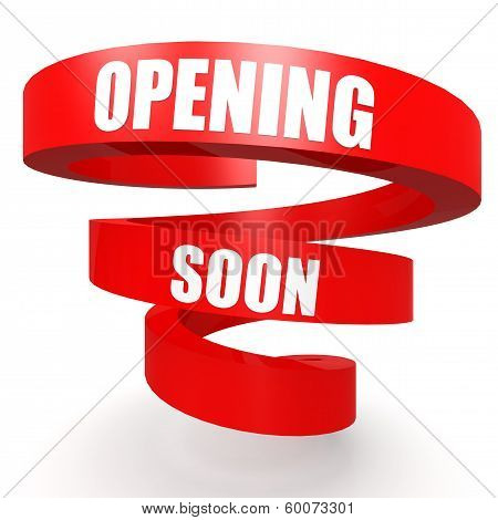 Opening Soon Red Helix Banner