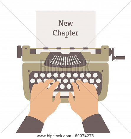 Writing A New Story Flat Illustration