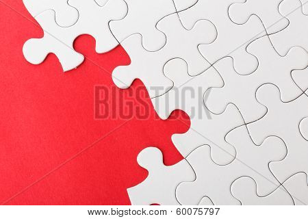 Incompleted white puzzle
