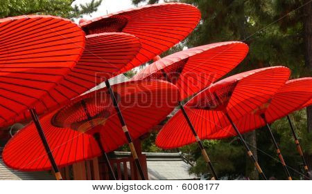 Red Parasols