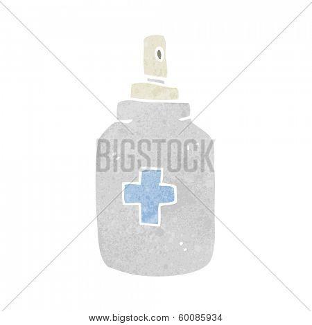 cartoon antiseptic spray