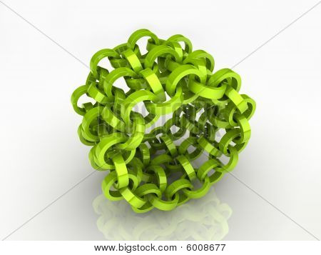 Abstract green circle chain