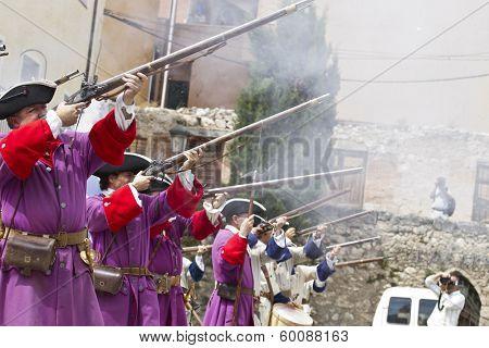 Succession  War September 4, 2010 in Brihuega, Spain