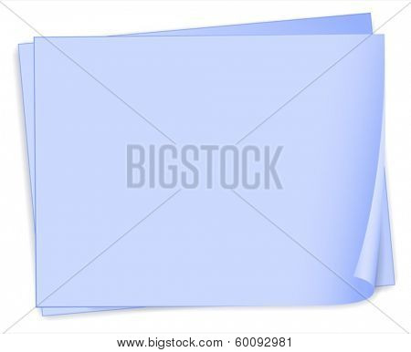 Illustration of the empty bondpaper template on a white background
