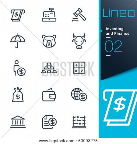 Lineo - Investing and Finance outline icons