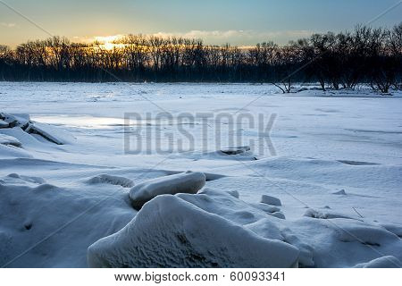 Frozen River Sunrise