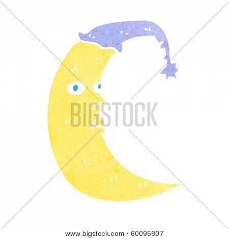 sleepy moon cartoon