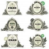 foto of cpa  - Vector Financial Frame and Badge Set - JPG