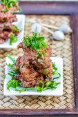 stock photo of patty-cake  - Fried Fish Cakes Thai Food - JPG