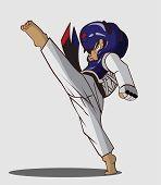 stock photo of taekwondo  - Create cartoon taekwondo martial art - JPG