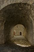 stock photo of underpass  - underpass on the streets of a town - JPG