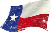 stock photo of texas star  - flag of  Texas in the wind with a texture - JPG