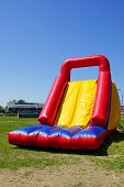 stock photo of inflatable slide  - Fun and big inflatable slide for kids - JPG