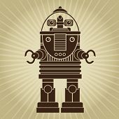 picture of past future  - Retro Vintage Robot Character - JPG