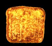 stock photo of french-toast  - Slice of french toast on a black background - JPG
