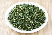 picture of malunggay  - Spinach dish with coconut  - JPG