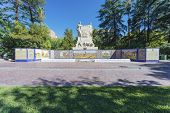 image of mendocino  - Spain Square one of the four smaller plazas located 2 blocks off each corner of Independence Plaza in Mendoza Argentina.
