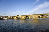 picture of rebuilt  - London Bridge in Lake Havasu, Arizona old historic bridge rebuilt with original stones in America