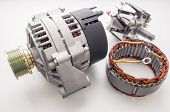 picture of spare  - generator for the car and spare parts for its repair - JPG
