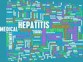 stock photo of hepatitis  - Hepatitis Medical Concept as an Infection Art - JPG