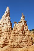 picture of hoodoo  - View of famous Hoodoos in Canyon - JPG