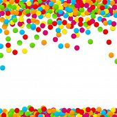 foto of confetti  - Colorful celebration background with confetti - JPG