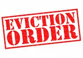 pic of eviction  - EVICTION ORDER red Rubber Stamp over a white background - JPG