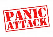 foto of dread head  - PANIC ATTACK red Rubber Stamp over a white background - JPG