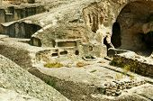 stock photo of pagan  - Cave antient pagan city Uplistsihe  - JPG
