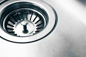 A Stainless Steel Kitchen Sink Drain