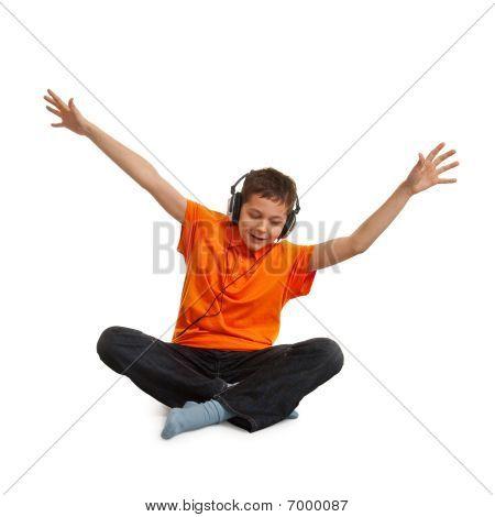 Teenager Listening Music