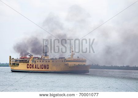 Ferry Conveying Passengers And Goods, Philippines