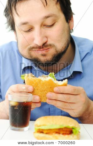 Fast Food, Burger And Cola