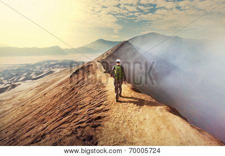 Hike in Bromo volcano
