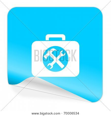 toolkit blue sticker icon