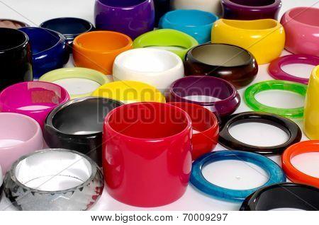 Pile of Fashion colorful bangles