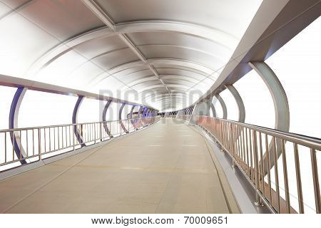 Sky Walk Bridge Made From Metal Steel Technology Style Isolated Whtie Background Use As Perspective