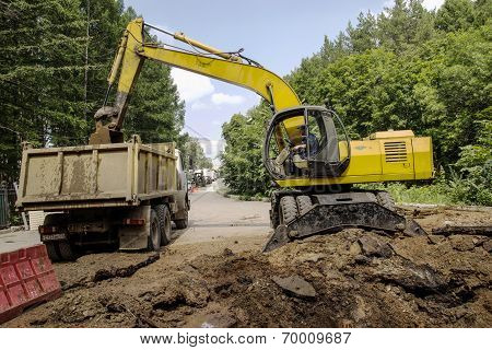 Download 20 Ton Dump Truck Excavator