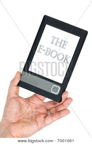 Hand Holding E-book Gadget
