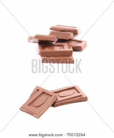 Tasty morsel of milk chocolate.