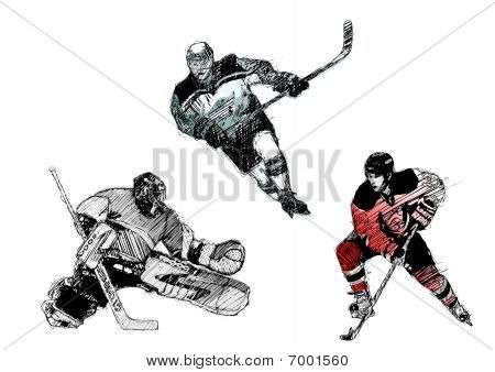 ice Hockey Trio
