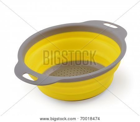 strainer plate on a white background