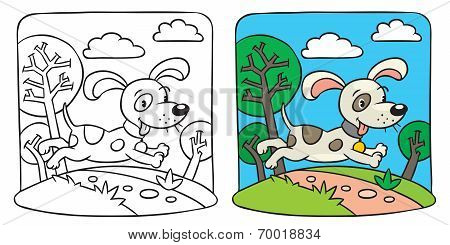 Dog. Coloring book