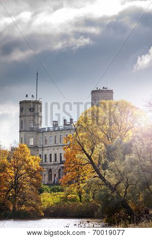 Russia. Saint-Petersburg. Gatchina. Autumn in palace park