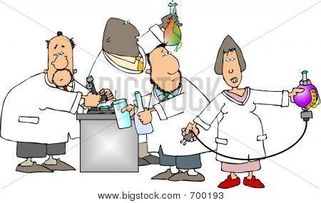 Gruppe von Wissenschaftlern