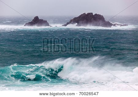 Cornish Storms At Cape Cornwall